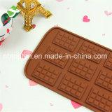 100% moulages de silicones de chocolat/gâteau de gaufre de la catégorie comestible 12-Cavity