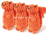Ardilla de la cuerda del algodón, juguete relleno perro de la felpa
