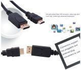 Displayport ao macho do cabo de HDMI ao macho 6ft 1.8m