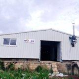 ferme avicole de grilleur de contrôle de l'environnement jetée avec la structure de vue en acier