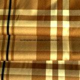 Polyester-Pfirsich-Haut-Gewebe mit Check-Druck für Kleid