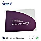 Diente de 4.3 pulgadas que hace publicidad con el monitor del LCD
