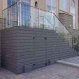 バルコニーのアルミニウムポストチャネルのガラス手すり/デッキのガラス柵