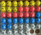 Celuloide Mesa de ping pong multicolor con 6 lados o revestimiento de Bingo de 12 lados de la Lotería sorteo de lotería Keno bolas
