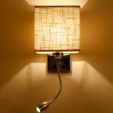 Китайского поставщика отеля утюг материала на прикроватном мониторе настенный светильник