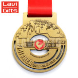 安い価格の上の販売のカスタム記念品賞の赤い中心の形メダル
