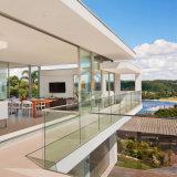 Traliewerk van het Kanaal van het Aluminium van de Balustrade van het Balkon van het Glas van Frameless het U Gebaseerde
