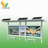O LED de energia solar exterior cores visor da estação de ônibus