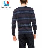 남자의 줄무늬로 한 색깔 둥근 목 좋은 품질 뜨개질을 한 잠바