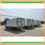 Dongfengのトラックは冷やされていた単位のボックスによって冷やされている貨物ヴァンを取付けた