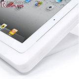 催し物のための実用的なカウンタートップの白いアクリルの表示iPadの小型ホールダー