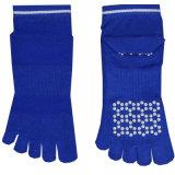 Синий трикотажные шаблон пользовательского Antislip Toe Йога носки