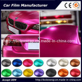 Hot vender hielo cromo mate rojo rosa coche película de vinilo adhesivo de envoltura de 1,52m de ancho