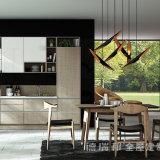 ホーム家具灰色カラー光沢度の高いラッカー木製の食器棚