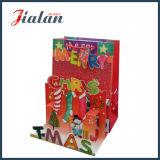 Modificar la bolsa de papel para requisitos particulares peculiar del regalo de las compras de la Navidad y del muñeco de nieve del padre de la historieta