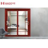 Алюминиевые двери сползая стекла деревянные для шкафа