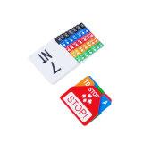 カードの値をつけるペーパーが付いている水平の値をつけるセット