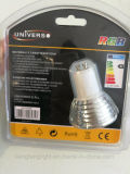 Con Remote de aluminio de 3W Bombilla LED RGB