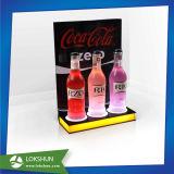 최신 판매 탁상용 아크릴 발광 다이오드 표시 대 LED 포도주 홀더
