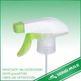 28/410 de pulverizador verde-claro do disparador da tampa do dobro dos PP