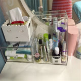 Caja de almacenamiento de maquillaje de acrílico con cajones