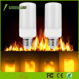 Più nuovo disegno che passa rapidamente la lampadina infiammante della fiamma LED della fiera di Emulational della lampadina della fiamma del LED con 3-Mode per natale