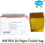 Adesivo quente foleiro elevado do derretimento para a etiqueta da parte traseira do saco do mensageiro