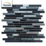 Mattonelle di mosaico lucide blu scuro decorative di cristallo della Camera calda di vendita
