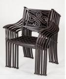 Брошенный алюминий сада обедающ стул для Ptio и напольной задворк