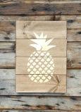 Signe en bois de mur d'ananas