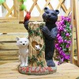 도매 정원 훈장 동물성 작은 조상 곰 동상