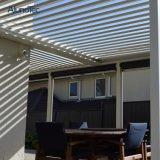 미늘창 지붕을%s 가진 아름다운 자동화된 금속 Pergola 그늘 덮개