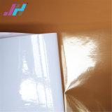 Matériau auto-adhésif amovible d'impression de vinyle de Tranparent de collant dissolvant de véhicule d'Eco de latex