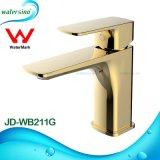 Jd-Wb211HG Cuenca de Oro de latón Mezclador de palanca única Grifo de agua del grifo