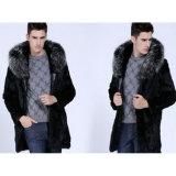 人の毛皮のジャケットのための新しい冬ののどのウサギの毛皮のコート