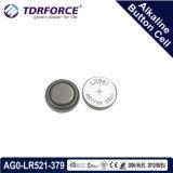 Mercury&Cadmium freie China Fabrik-alkalische Tasten-Zelle für Uhr (1.5V AG0/LR521)