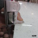 Lastre bianche della pietra del quarzo del controsoffitto della cucina della scintilla 3cm