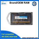 Type de mémoire RAM de la livraison rapide DDR3 8GB 1600MHz pour l'ordinateur portatif