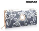 فراشة طباعة أنثى محفظة [كلوتش بغ] [إفنينغ بغ] زمّ حقيبة يد حقيبة يد