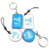 Carte d'étiquette époxy ronde du code fait sur commande NFC de Qr pour l'identification de crabot