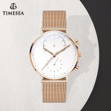 Reloj de cuarzo de moda Hombre impermeable reloj de pulsera con la banda de malla72137