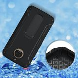 Moto G5S Plus étui, protection Armor avec bouclier Kickstands Couvercle pour Motorola Moto G5S+ Phone - noir