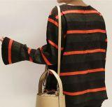 Maglietta lunga semplice delle signore dei manicotti di alta qualità