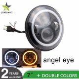 L'ambre de gros d'usine Angel Eye 5D haute DRL des feux de croisement des phares de conduite Halo ronde de 7 pouces LED phares pour Jeep Wrangler