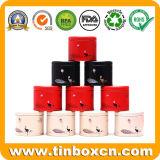 Il mini metallo del tè del contenitore su ordinazione di stagno può piccolo carrello di tè