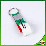 De douane Afgedrukte Armband Keychain van het Silicone van het Embleem
