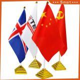 Tous les pays de couleur personnalisée Drapeau de Table avec base de métal