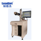 Impresora de la etiqueta de plástico del metal del laser de la fibra de Leadjet de la alta calidad