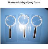 Lente Handheld da lupa do Magnifier do PVC da lupa da forma redonda 3X de Hw817 140*70mm