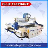 Router di CNC della Cina di 4 assi con il router di CNC dell'asse di rotazione Ele1325 di raffreddamento ad aria con il sistema di vuoto dall'elefante blu